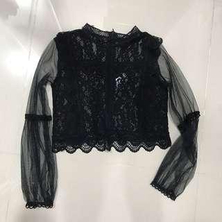 BN Black Lace Top