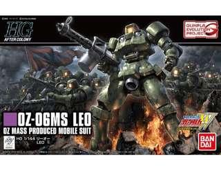 全新 1/144 HG Gundam W 新機動戰記 OZ-MS06 Leo