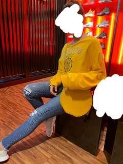 Oversize Sweatshirt Croptop