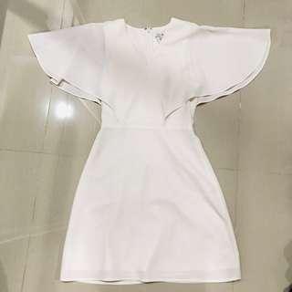 Love Bonito white cape dress