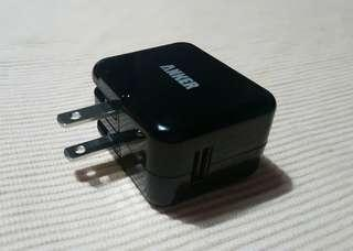 Anker US 2 pin charger with USB