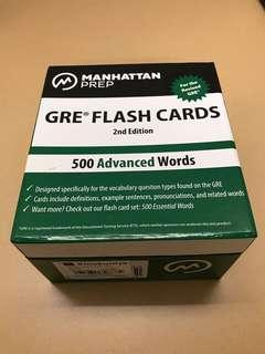 GRE vocabulary flash cards (500 essential words)