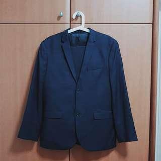 H&M Navy Blue Suit Set