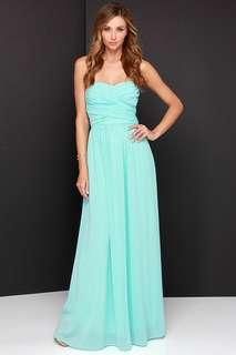 Lulus mint green strapless dress