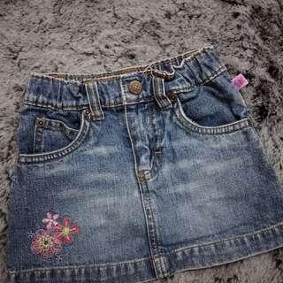 Oshkosh baby jeans skirt