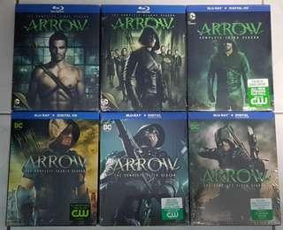 Arrow Season 1 - 6 Bluray   24 discs