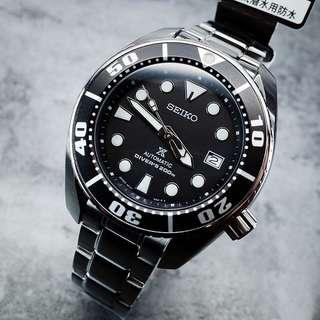 Authentic Brand New Seiko Sumo Prospex Automatic Dive Watch With Black Dial and Stainless Steel Bracelet SBDC031 SBDC