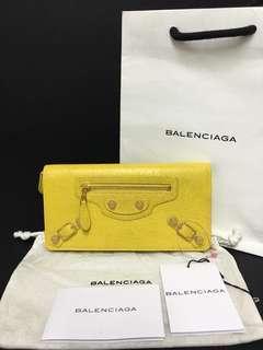 BALENCIAGA GIANT 12 MONEY LONG WALLET in CURRY