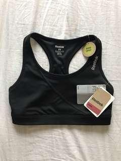 BNWT Reebok black sports bra