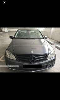Mercedes C180 for rental
