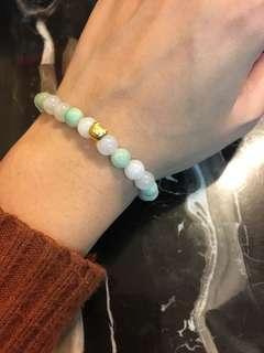 999 gold jade bracelet 足金翡翠手鍊