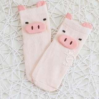 🚚 SOC004 Baby Boy Girl Pink Piggy Pig Socks (0-2 yrs)