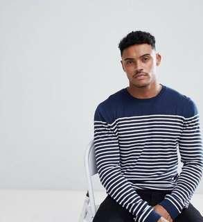 ASOS Navy Blue Stripes Sweater