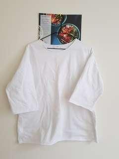 White Stylish Boxy T-shirt from Korea