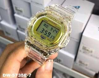 Authentic Brand New Casio G-Shock 35th Anniversary GA-835E-7A (Skeleton Gold Collection) Special Edition