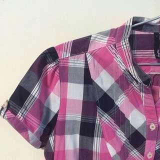 BN Checkered pink and purple dress