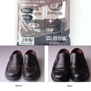 日本製便携鞋用拋光清潔布 (8個裝)
