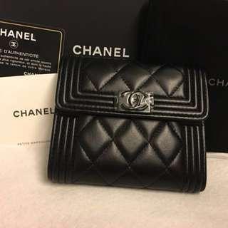 Boy Chanel Classic Flap Wallet 7aa2f9e83b569