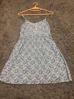 paisley slag dress