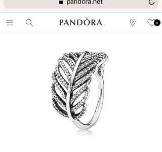 Pandora Pave Feather Ring