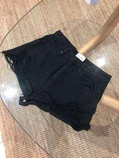 A Brand black denim shorts. Size - 10
