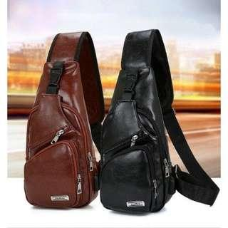 Chest Bag ( Black and Brown )