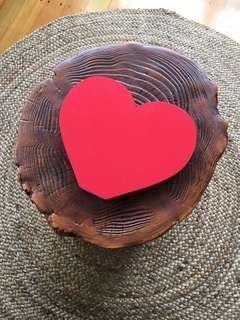 Red Wooden Heart freestanding