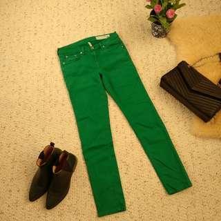 Rag and bone skinny jeans size 27 green