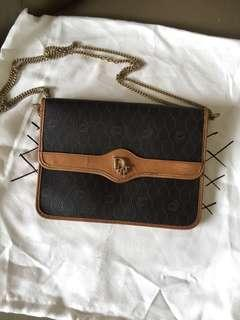 Authentic christian dior chain sking shoulder bag small
