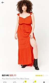 forever 21 plus maxi dress