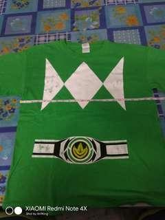 Power Ranger Green Tee T Shirt Baju