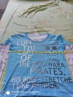 One Piece Luffy Tee T Shirt Baju