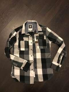 G-STAR 100% Cotton Shirt, Size S, Excellent Condition, one button at cuff is missing see photo