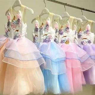 In stock Unicorn Dress Princess Dress