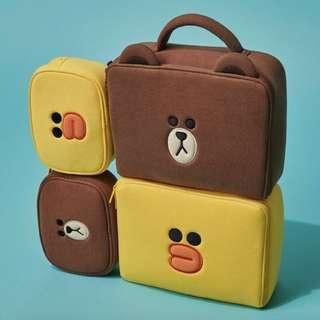 Line friends multi-purpose pouches
