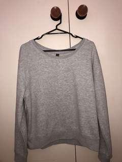 Cotton on body grey sweatshirt