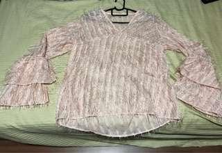Baby Pink Top with bell sleeves