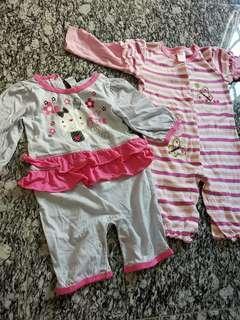 Girl Pyjamas onsies 2sets