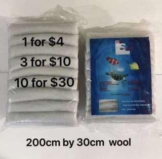 Aquarium filter white wool