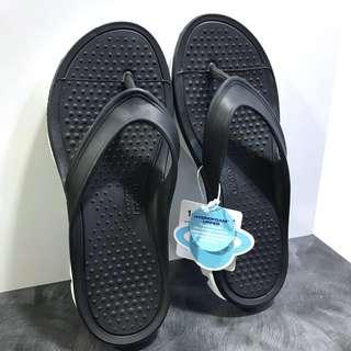 NEW Women size 7 (US/UK) Black SKECHERS H2GO - TIDAL WAVE slippers flip flops @sunwalker