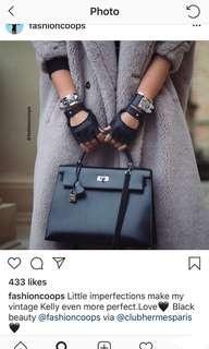 Hermès Classic Icon Black Box Kelly