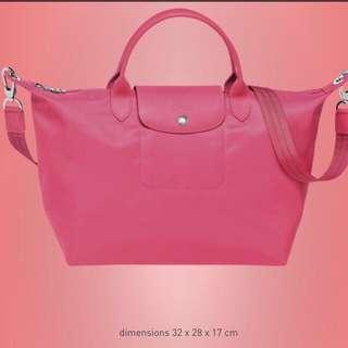 BN Pink Longchamp Pilage Neo