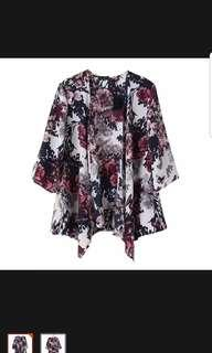 Kimono Cardigan/blouse - floral brand new with tags