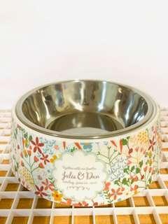 Pet dDog Pet Bowl,medium with removable metal bowl 15cm