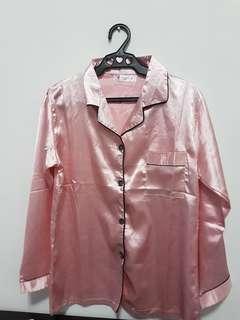 Silk-like Satin Sleepwear ( longsleeve terno)