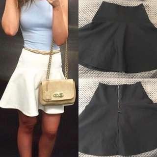 🖤KOOKAI : SOLD OUT : Black Peplum Scuba Skirt Size 36 (8)