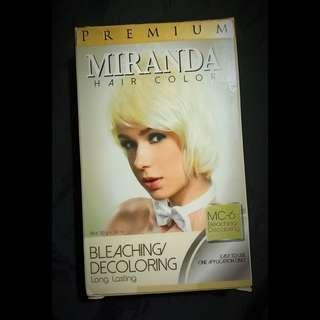 Miranda Hair Color Premium: Bleaching/Decoloring. Long lasting. MC-6. 30g + 30 ml