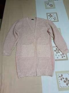STRADIVARIUS light pink sweater/cadigan