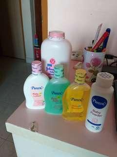 Pureen baby lotion.shampoo.bodywash.talcum powder