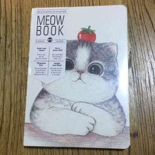 🚚 【喵喵-全新】可愛貓咪空白筆記本 / 可當手繪本 記帳本 素描本 記事本 繪畫本 集章本